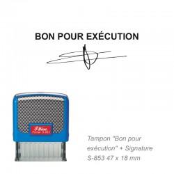 """Tampon """"BON POUR EXECUTION"""""""