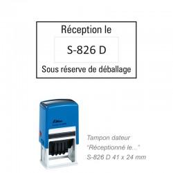 Tampon Dateur RECEPTION LE  - SOUS RESERVE DE DEBALLAGE