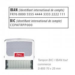 Tampon N° IBAN/BIC
