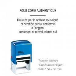 Tampon Notaire pour copie authentique