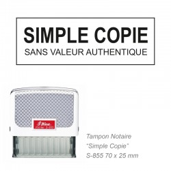Tampon NOTAIRE SIMPLE COPIE
