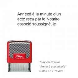Tampon NOTAIRE ANNEXE A LA MINUTE