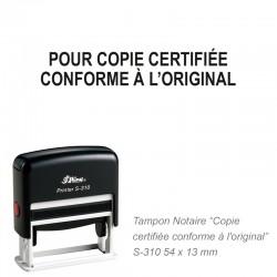Tampon NOTAIRE POUR COPIE CERTIFIEE CONFORME...