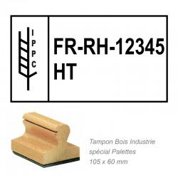 tampon bois grand format pour palette nimp15 - 100 x 60 mm